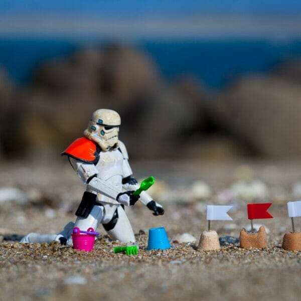 As happy as a Sand Trooper on the beach