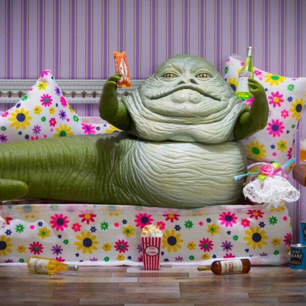 Jabba on the sofa